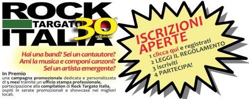 ROCK TARGATO ITALIA… C'è ancora tempo per iscriversi